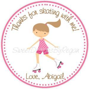 Rollerskating Favor Tags - Set of (..