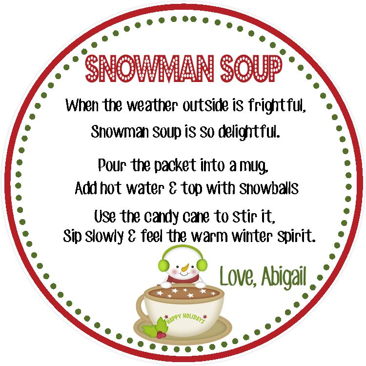 It is a graphic of Snowman Soup Printable throughout teacher